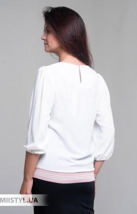 Блуза Shefly 13011 Белый/Пудра/Принт