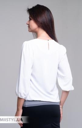 Блуза Shefly 13011 Белый/Серый/Принт