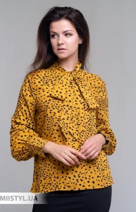 Блуза So Sweet 26494 Горчичный/Черный/Принт