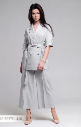 Костюм Miss Lilium Y020TAKIM13 Серый/Молочный/Клетка