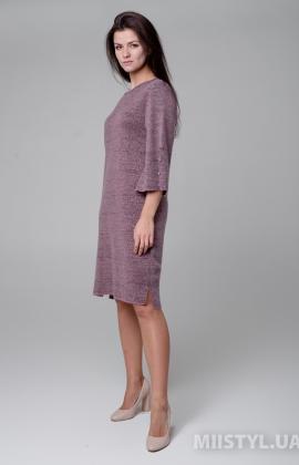 Платье Serianno 10С5140 Темно-розовый/Люрекс