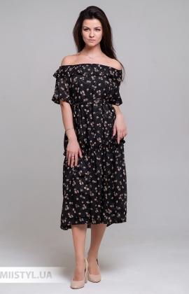 Платье La Julyet 6597 Черный/Принт