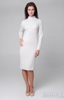 Платье Serianno 10С5880 Молочный/Люрекс
