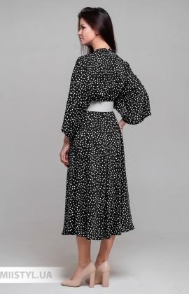 Платье Norm 201151 Черный/Белый/Горох
