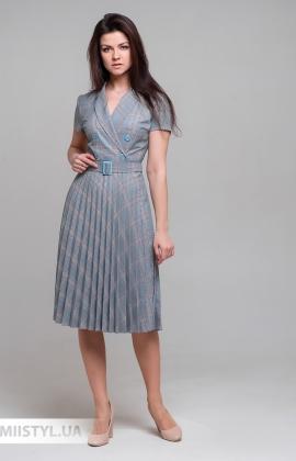 Платье Lady Morgana 5010 Серый/Мятный/Клетка
