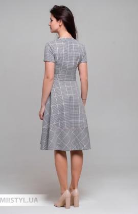 Платье Lady Morgana 5016 Черный/Пудра/Лапка