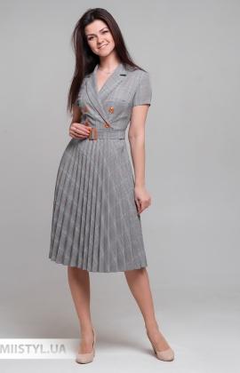 Платье Lady Morgana 5010 Серый/Терракотовый/Клетка