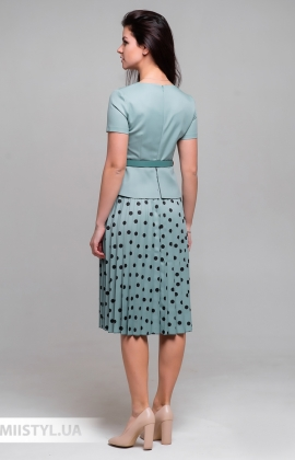 Платье Lady Morgana 5031 Мятный/Горох