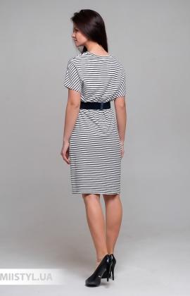 Платье Mira Mia Y206041 Белый/Черный/Полоска