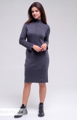 Платье Serianno 10С5880 Темно-серый/Люрекс