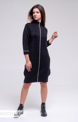 Платье Serianno 10С6904 Черный/Люрекс