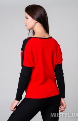 Джемпер HZ 1483 Красный/Черный