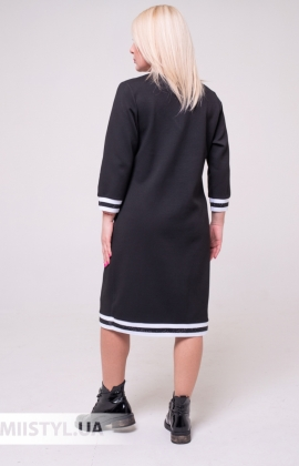 Платье La Fama 8002Черный/Принт