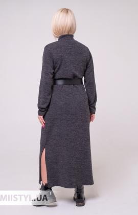 Платье La Fama 8010 Черный/Горчичный/Принт