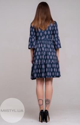 Платье La Fama 1220 Темно-синий/Принт