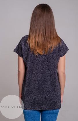 Блуза Serianno 10C1948 Темно-синий/Люрекс
