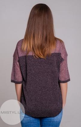 Блуза Serianno 10C5028 Баклажанный/Люрекс