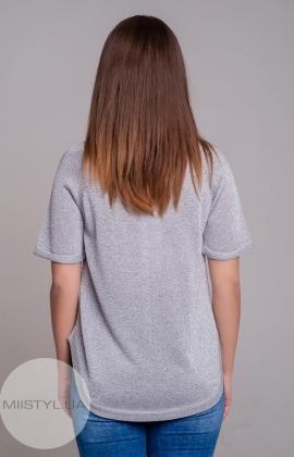 Блуза Serianno 10C4092 Светло-серый/Люрекс