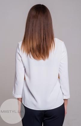 Блуза Pretty Lolita 12647 Белый/Горчичный/Принт