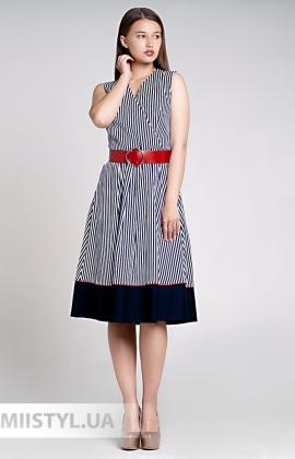 Платье Lady Morgana 4831 Темно-синий/Белый/Полоска