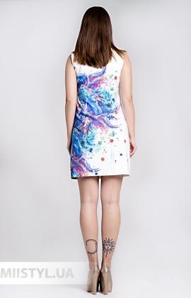 Платье La Fama 1315 Молочный/Принт