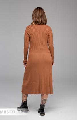 Платье La Fama 1399-B Черный/Серебристый/Полоска
