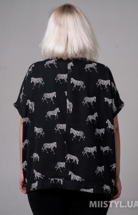 Блуза Miss Lilium M20K20747AXW Черный/Белый/Принт