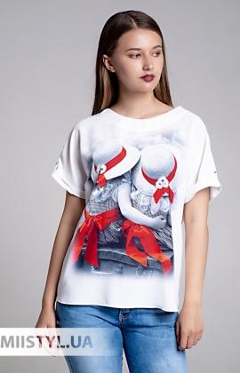 Блуза Cliche 2054403 Белый/Принт