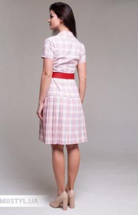 Платье Lady Morgana 5027 Молочный/Красный/Клетка
