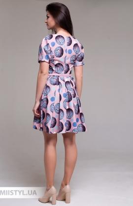 Платье La Fama 1516 Пудра/Синий/Принт