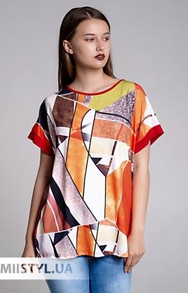 Блуза Bluoltre YS71143 Красный/Принт