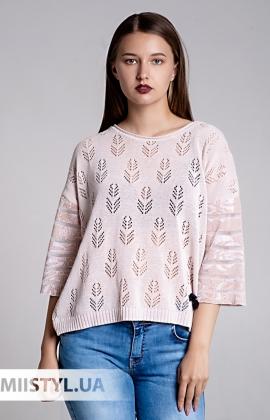 Блуза Serianno 10C5506 Пудра/Люрекс
