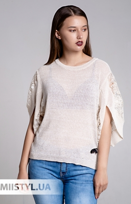 Блуза Serianno 10C4936 Молочный/Люрекс