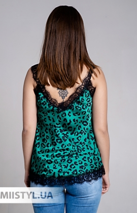 Блуза Amelie Folies 19801 Зеленый/Леопард
