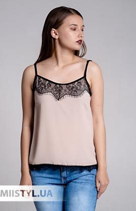 Блуза La Fama 1107 Бежевый/Черный