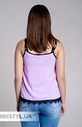 Блуза La Fama 1107 Сиреневый/Черный