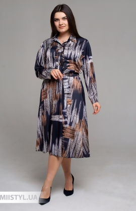 Платье Nikolo Polini 3042 Бежевый/Черный/Принт