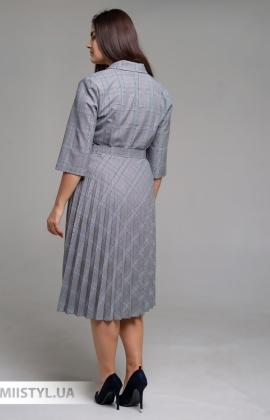 Платье Lady Morgana 6010 Серый/Терракотовый/Клетка