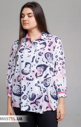 Блуза SHN 4541 Белый/Розовый/Принт
