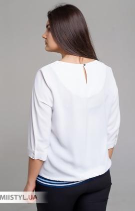 Блуза Cliche 2609514 Белый/Синий/Принт