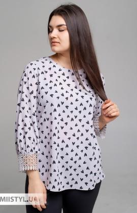 Блуза Moda Linda 4797 Бежевый/Принт