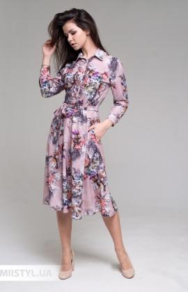 Платье Nikolo Polini 3082 Фризовый/Принт