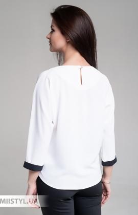 Блуза Moda Linda 4434 Белый/Горчичный/Принт