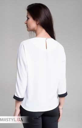 Блуза Moda Linda 4434 Белый/Голубой/Принт