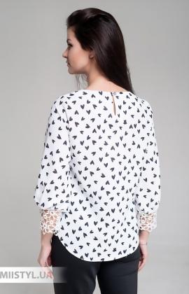 Блуза Moda Linda 4397 Белый/Принт