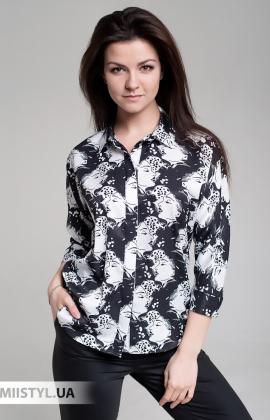 Блуза Seul 50915 Белый/Черный/Принт