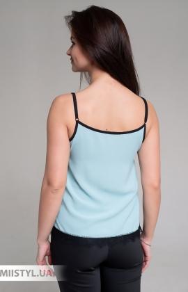 Блуза La Fama 1107 Мятный/Черный