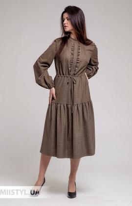 Платье J.London 70513 Бежевый/Клетка