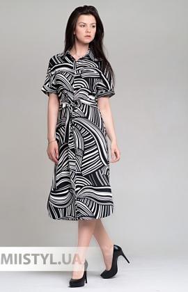 Платье Magro 69260026 Черный/Белый/Принт