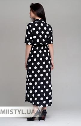 Платье Bovien 19Y233 Черный/Белый/Горох